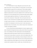 Essay on sexual morality